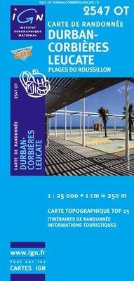 2547OT Durban Corbières | wandelkaart 1:25.000 9782758501459  IGN TOP 25  Wandelkaarten, Wijnreisgidsen Languedoc, Hérault, Aude