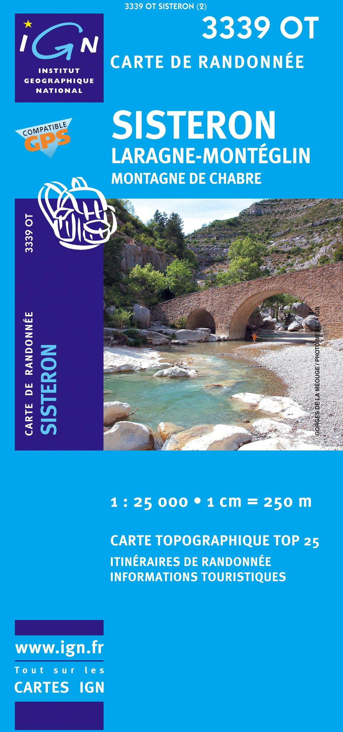 3339OT  Sisteron, Laragne-Monteglin   wandelkaart 1:25.000 9782758501473  IGN TOP 25  Wandelkaarten Alpes de Haute-Provence, Gorges du Verdon
