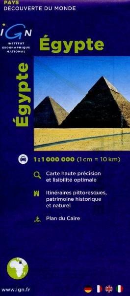 Egypte 1:1.000.000 9782758501596  IGN   Landkaarten en wegenkaarten, Stadsplattegronden Egypte