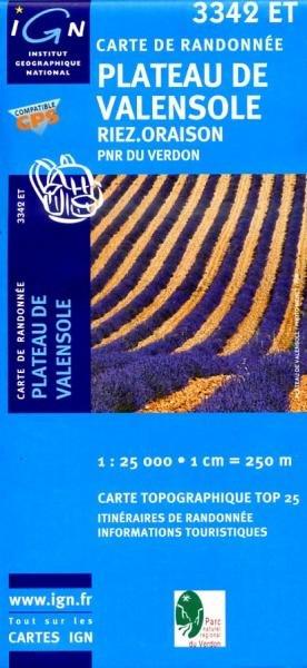 3342ET   Plateau de Valensole | wandelkaart 1:25.000 9782758501787  IGN TOP 25  Wandelkaarten tussen Valence, Briançon, Camargue en Nice