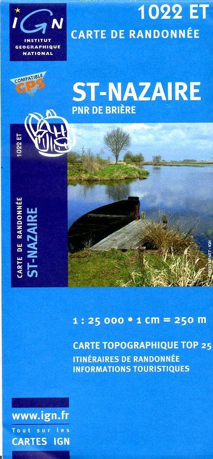 1022ET  St-Nazaire, Brière   wandelkaart 1:25.000 9782758503194  IGN TOP 25  Wandelkaarten Loire Atlantique, Charente, Vendée