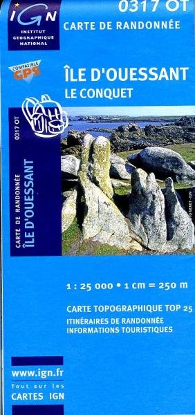 0317OT   Île d'Ouessant | wandelkaart 1:25.000 9782758505211  IGN TOP 25 (1:25.000) TOP 25  Wandelkaarten Bretagne