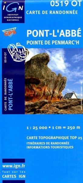 0519OT  Pont l'Abbé, Pointe Penmarc'h | wandelkaart 1:25.000 9782758505280  IGN TOP 25  Wandelkaarten Bretagne