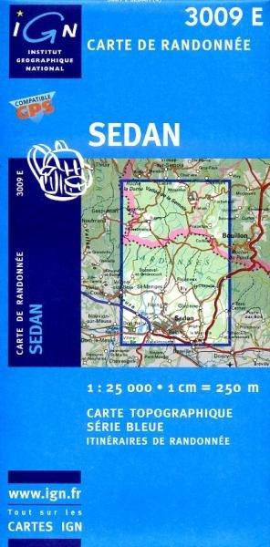 3009 Est  Sedan 9782758505525  IGN Serie Bleue 1:25.000  Wandelkaarten Champagne, Franse Ardennen