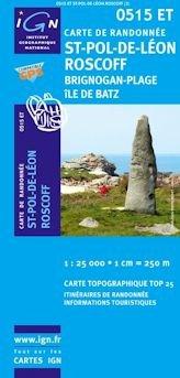 0515ET  St.Pol-de-Léon, Roscoff | wandelkaart 1:25.000 9782758506683  IGN TOP 25  Wandelkaarten Bretagne