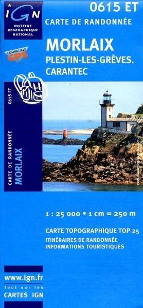 0615ET  Morlaix, Lanmeur, Plougasnou | wandelkaart 1:25.000 9782758506690  IGN TOP 25  Wandelkaarten Bretagne