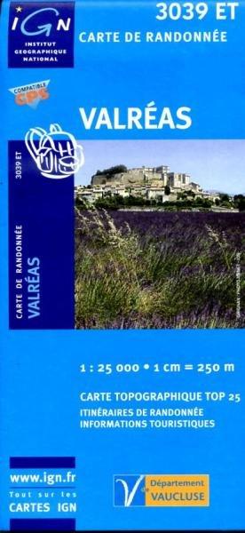 3039ET  Grignan, Valréas | wandelkaart 1:25.000 9782758510321  IGN TOP 25  Wandelkaarten Drôme, Vercors, Provence, Vaucluse, Luberon
