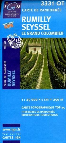 3331OT  Rumilly, Grand Colombier | wandelkaart 1:25.000 9782758510505  IGN TOP 25  Wandelkaarten Haute Savoie, Mont Blanc
