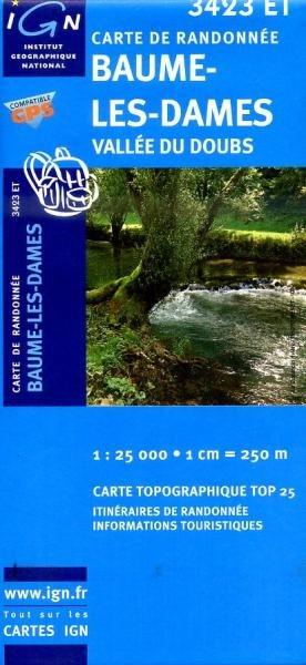 3423ET  Baume-les-Dames | wandelkaart 1:25.000 9782758510529  IGN TOP 25  Wandelkaarten Jura, Franche-Comté