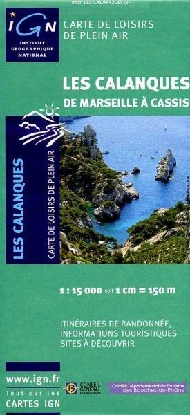 Les Calanques 1:15.000 9782758511564  IGN IGN Spéciales  Wandelkaarten tussen Valence, Briançon, Camargue en Nice