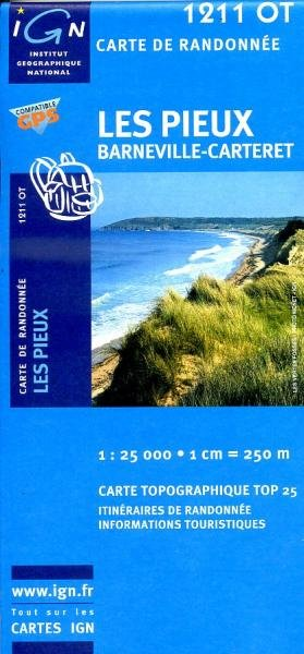 1211OT Bricquebec, Portbail | wandelkaart 1:25.000 9782758513001  IGN TOP 25 (1:25.000)  Wandelkaarten Normandië