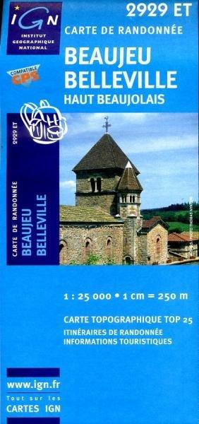 2929ET  La Chapelle-de-Guinchay | wandelkaart 1:25.000 9782758516323  IGN TOP 25  Wandelkaarten Bourgogne, Morvan, Côte-d'Or