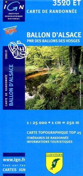 3520ET   Ballon d'Alsace   wandelkaart 1:25.000 9782758516378  IGN TOP 25  Wandelkaarten Vogezen