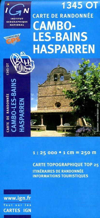 1345OT   Cambo-les-Bains | wandelkaart 1:25.000 9782758518068  IGN TOP 25 (1:25.000) Wandelkaarten Franse Pyreneeën  Wandelkaarten Baskenland