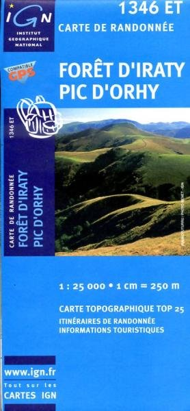 1346ET   Foret d'Iraty, Pic d'Orhy | wandelkaart 1:25.000 9782758518075  IGN TOP 25 (1:25.000) Wandelkaarten Franse Pyreneeën  Wandelkaarten Baskenland