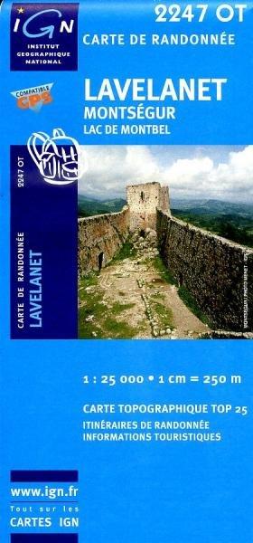 2247OT   Lavelanet, Chalabre   wandelkaart 1:25.000 9782758518242  IGN TOP 25  Wandelkaarten Franse Pyreneeën, Toulouse, Gers, Garonne