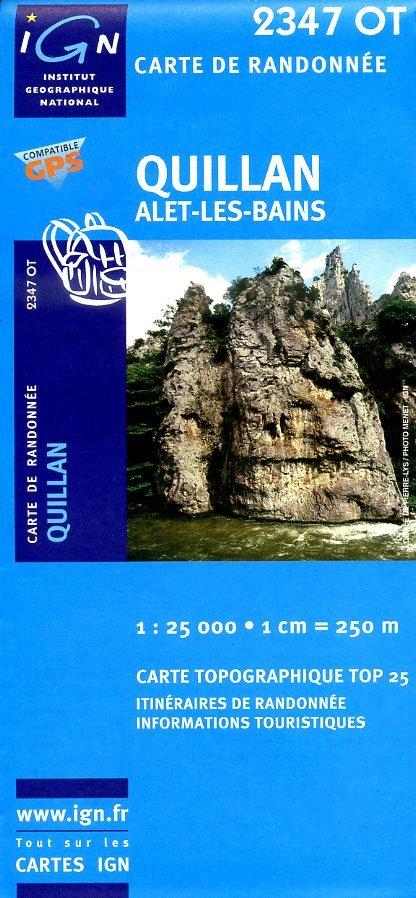 2347OT  omgeving Quillan   wandelkaart 1:25.000 9782758518297  IGN TOP 25  Wandelkaarten Franse Pyreneeën, Toulouse, Gers, Garonne