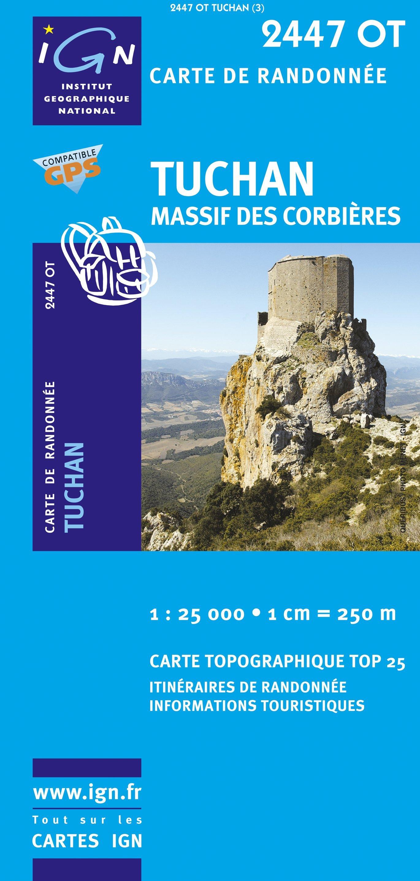 2447OT  Mouthoumet, Tuchan | wandelkaart 1:25.000 9782758518327  IGN TOP 25  Wandelkaarten Languedoc, Hérault, Aude
