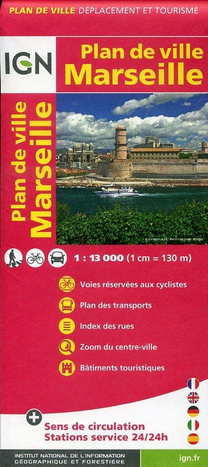 Marseille stadsplattegrond 1:13.000 9782758520467  IGN   Stadsplattegronden tussen Valence, Briançon, Camargue en Nice