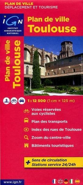 Toulouse, plan de ville 1:12.500 (stadsplattegrond) 9782758520474  IGN   Stadsplattegronden Franse Pyreneeën, Toulouse, Gers, Garonne