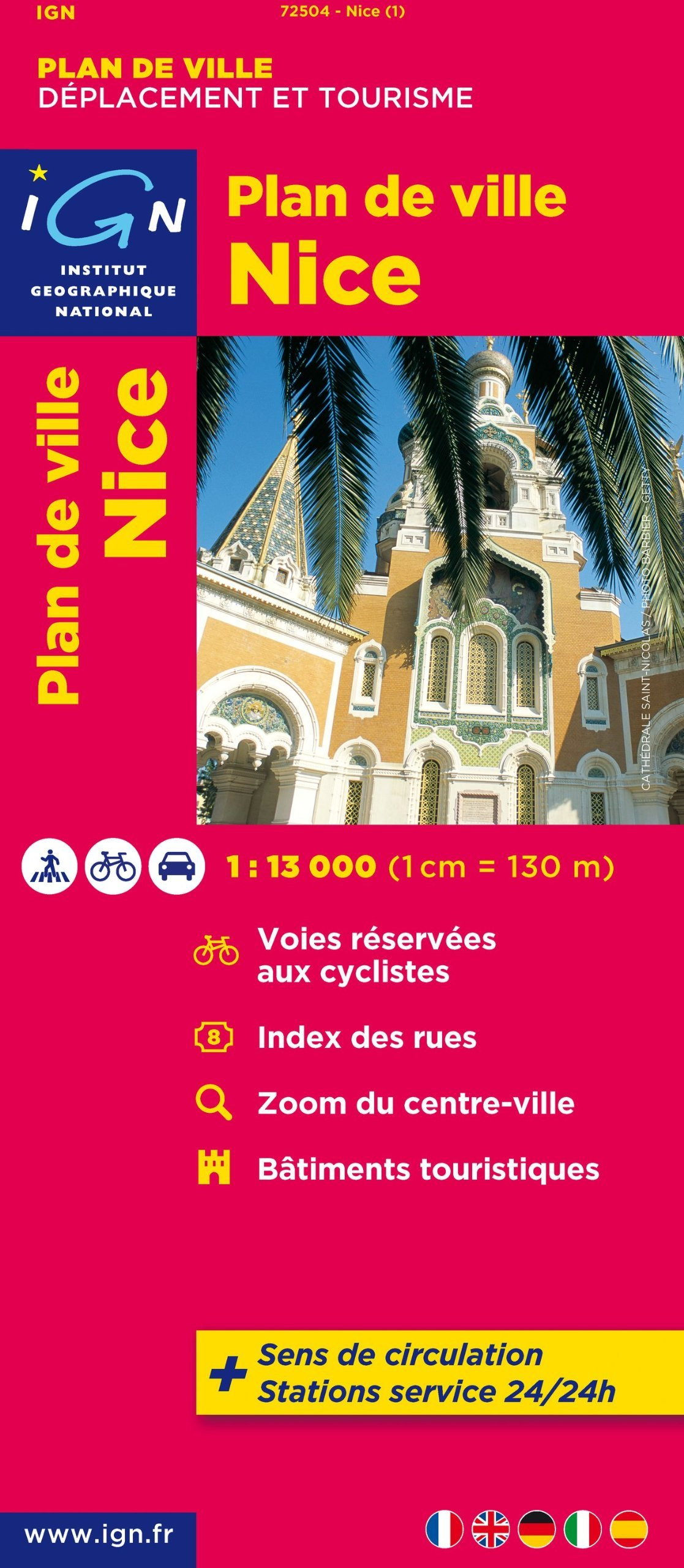 Nice, plan de Ville 9782758520498  IGN   Stadsplattegronden tussen Valence, Briançon, Camargue en Nice