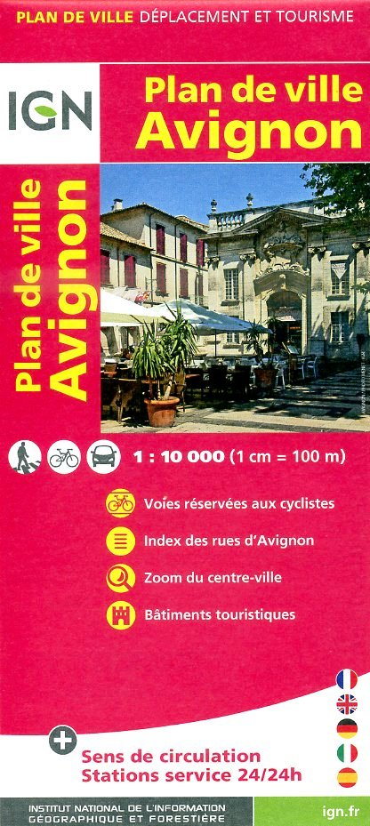 Avignon, Plan de 9782758520825  IGN   Stadsplattegronden tussen Valence, Briançon, Camargue en Nice