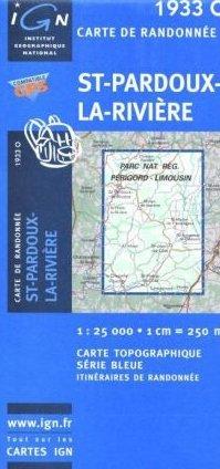 1933 Ouest  St-Pardoux-la-Rivière 9782758521617  IGN Serie Bleue 1:25.000  Wandelkaarten Zuidwest-Frankrijk