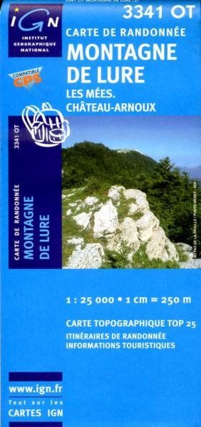 3341OT  Montagne de Lure, Les Mées | wandelkaart 1:25.000 9782758522645  IGN TOP 25  Wandelkaarten tussen Valence, Briançon, Camargue en Nice