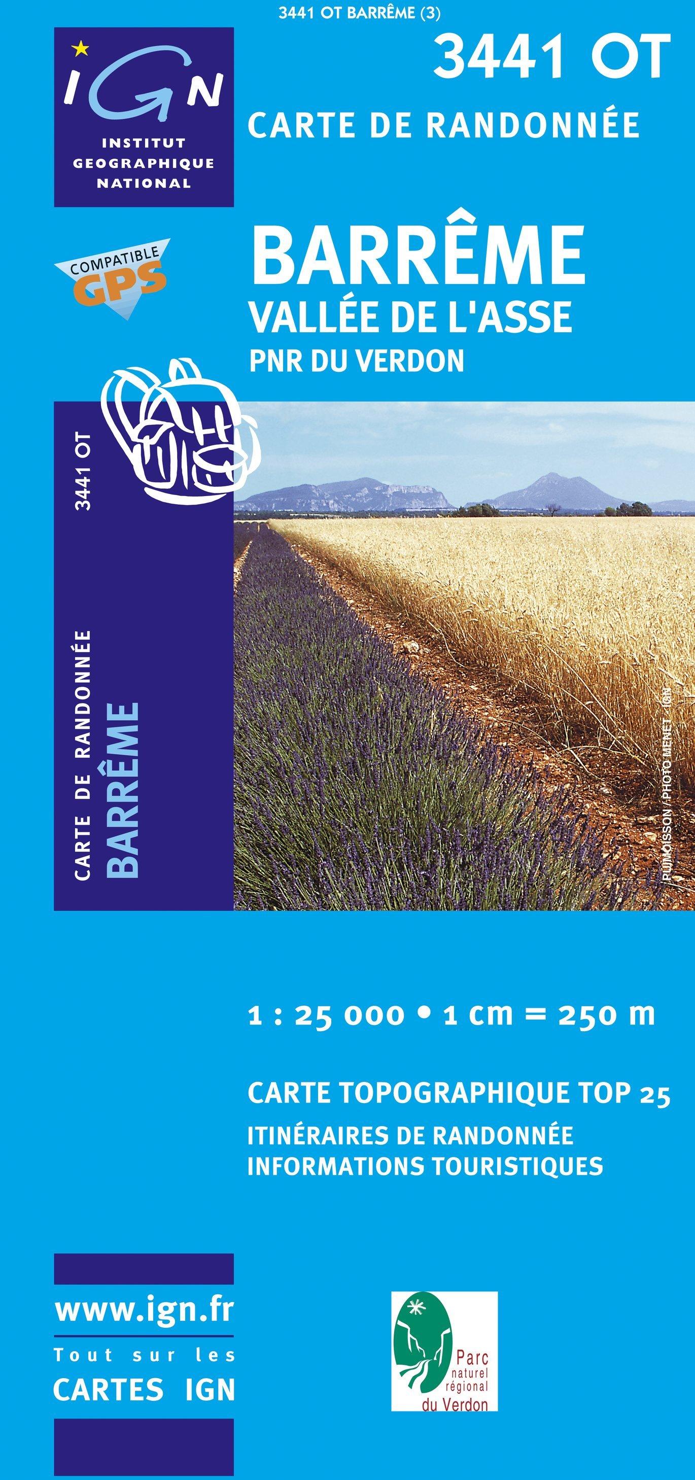 3441OT   Mézel, Barrême, Senez   wandelkaart 1:25.000 9782758522744  IGN TOP 25  Wandelkaarten Alpes de Haute-Provence, Gorges du Verdon