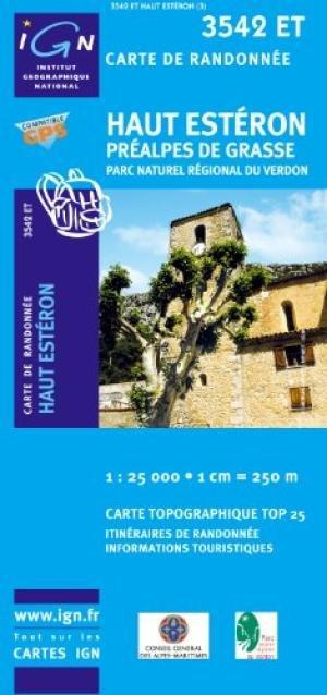 3542ET  Haut Estéron | wandelkaart 1:25.000 9782758522829  IGN TOP 25 (1:25.000) Wandelkaarten Haute-Provence  Wandelkaarten tussen Valence, Briançon, Camargue en Nice