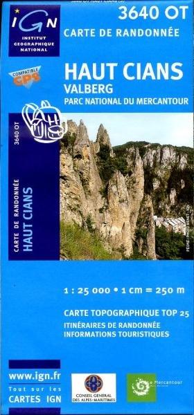 3640OT   Valberg, Haut Cians | wandelkaart 1:25.000 9782758523840  IGN TOP 25  Wandelkaarten Var, Côte d'Azur, Mercantour