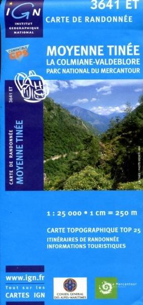 3641ET  Moyenne Tinée | wandelkaart 1:25.000 9782758523857  IGN TOP 25 (1:25.000) Wandelkaarten Franse Alpen  Wandelkaarten tussen Valence, Briançon, Camargue en Nice