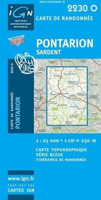 2230Ouest Pontarion Sardent 9782758525509  IGN Serie Bleue  Wandelkaarten Haute-Vienne, Creuse, Corrèze