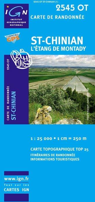 2545OT Saint Chinian | wandelkaart 1:25.000 9782758525905  IGN TOP 25  Wandelkaarten Languedoc, Hérault, Aude, Tarn