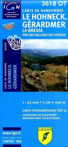 3618OT  Gérardmer, le Hohneck | wandelkaart 1:25.000 9782758526056  IGN TOP 25  Wandelkaarten Vogezen