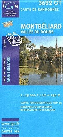 3622OT  Montbéliard,  Vallée du Doubs | wandelkaart 1:25.000 9782758526063  IGN TOP 25  Wandelkaarten Jura, Franche-Comté