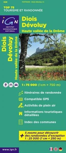 Diois, Devoluy, Haute Vallée de la Drôme |  IGN 1:75.000 9782758526544  IGN TOP 75  Landkaarten en wegenkaarten, Wandelkaarten Drôme, Vercors
