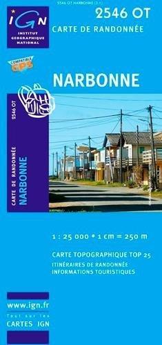 2546OT  Narbonne | wandelkaart 1:25.000 9782758526568  IGN TOP 25  Wandelkaarten Languedoc, Hérault, Aude