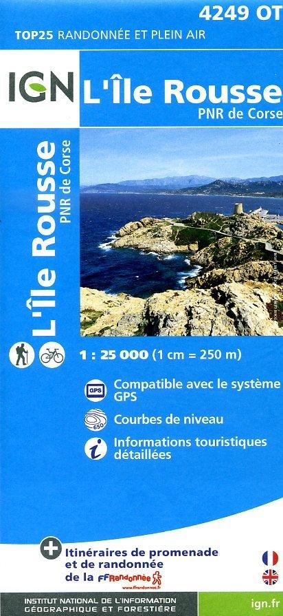 4249OT L'Île Rousse | wandelkaart 1:25.000 9782758528159  IGN TOP 25 (1:25.000) Wandelkaarten Corsica  Wandelkaarten Corsica