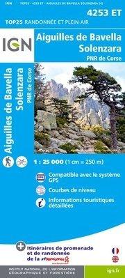 4253ET: Aiguilles de Bavella | wandelkaart 1:25.000 9782758528197  IGN TOP 25 (1:25.000) Wandelkaarten Corsica  Wandelkaarten Corsica