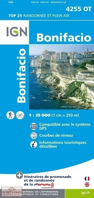 4255OT  Bonifacio, Figari, Capo Pertusato | wandelkaart 1:25.000 9782758528234  IGN TOP 25  Wandelkaarten Corsica