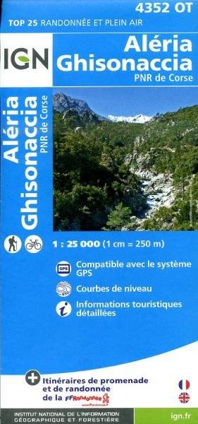 4352OT  Vezzani, Ghisonaccia, Aleria | wandelkaart 1:25.000 9782758528265  IGN TOP 25  Wandelkaarten Corsica