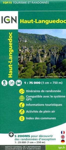 Haut-Languedoc    IGN 1:75.000 9782758528999  IGN TOP 75  Fietskaarten, Wandelkaarten Languedoc, Hérault, Aude