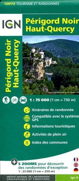 Périgord Noir, Haut-Quercy   IGN 1:75.000 9782758529033  IGN TOP 75  Fietskaarten, Wandelkaarten