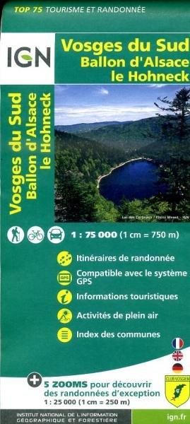 Vosges du Sud | IGN 1:75.000 9782758529057  IGN TOP 75  Fietskaarten, Lopen naar Rome, Wandelkaarten Vogezen