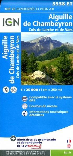 3538ET Chambeyron, St-Paul,Col-de-Vars | wandelkaart 1:25.000 9782758531005  IGN TOP 25  Wandelkaarten tussen Valence, Briançon, Camargue en Nice