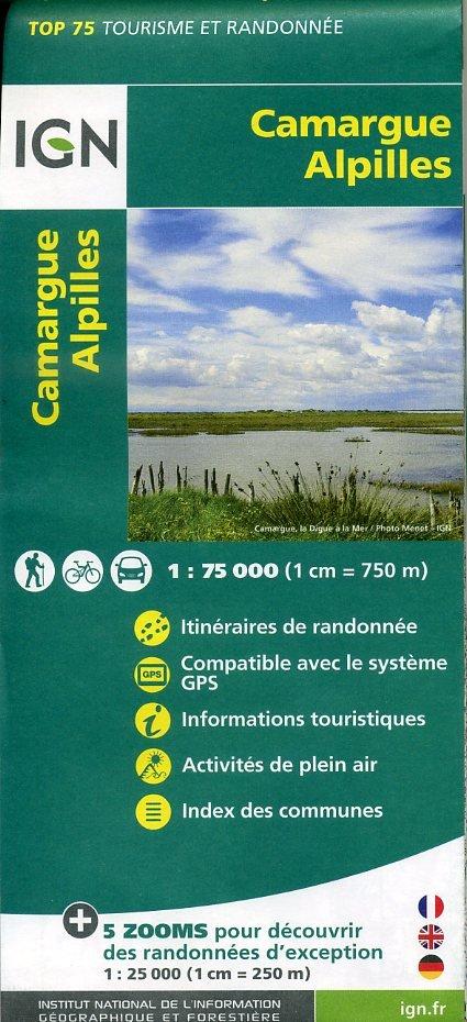 Camargue - Alpilles IGN 1:75.000 9782758531517  IGN TOP 75  Fietskaarten, Wandelkaarten tussen Valence, Briançon, Camargue en Nice