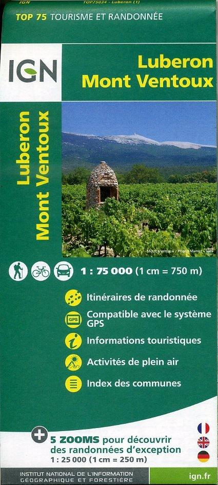 Luberon - Mont-Ventoux IGN 1:75.000 9782758531524  IGN TOP 75  Fietskaarten, Wandelkaarten tussen Valence, Briançon, Camargue en Nice