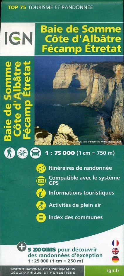 Baie de Somme, Côte d'Albâtre |  IGN 1:75.000 9782758531548  IGN TOP 75  Fietskaarten, Wandelkaarten Normandië