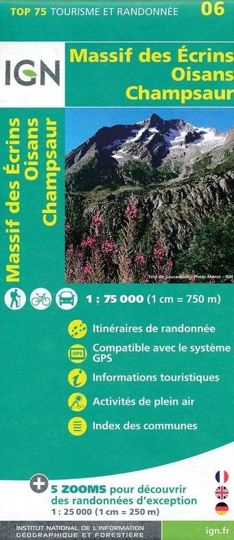 Massif des Écrins, Oisans, Champsaur |  IGN 1:75.000 9782758532705  IGN TOP 75  Landkaarten en wegenkaarten, Wandelkaarten Écrins, Queyras